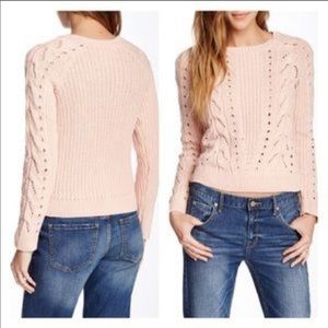 Lucky Brand • Pink Cable Knit Sweater
